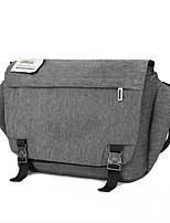 Men Shoulder Bag PU All Seasons Casual Outdoor Round Zipper Gray