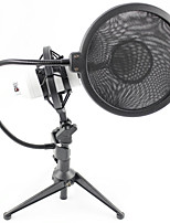 Professional Sound Studio Recording Condenser Microphone with  Stand Holder and Pop Filter