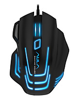 AULA 7 Button DPI Adjustable Gaming Mouse Wired Black Edition with 180CM Cable