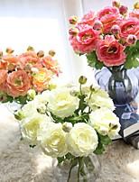 1 Филиал Полиэстер Розы Букеты на стол Искусственные Цветы