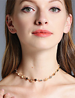 Women's Choker Necklaces Jewelry Star Iron Cooper Euramerican Handmade Fashion Personalized Simple Style Jewelry 147Party Daily Casual