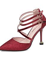 Для женщин Обувь на каблуках Удобная обувь Оригинальная обувь Светодиодные подошвы Дерматин Лето ОсеньСвадьба Повседневные Для праздника