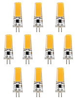 3W LED à Double Broches T 1 COB 300 lm Blanc Chaud Blanc V 10 pièces