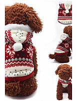 Dog Hoodie Dog Clothes Casual/Daily Snowflake Ruby Brown