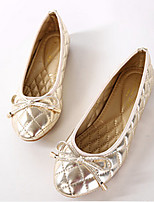 Для женщин Мокасины и Свитер Удобная обувь Полиуретан Весна Повседневные Удобная обувь Золотой Черный Серый На плоской подошве