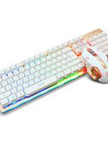Ajazz usb clavier souris rétro-éclairage souris 6keys dpi réglable avec câble 160cm