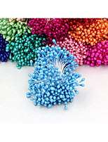 1 Bundle (250PCS)Artificial Flower Double Heads Stamen Pearlized Craft Cards Cakes Decor Floral for home wedding party decor