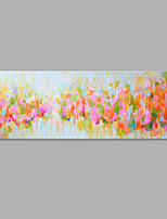 Ручная роспись Цветочные мотивы/ботанический Горизонтальная,Художественный 1 панель Холст Hang-роспись маслом For Украшение дома