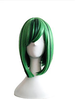 New Color BOBO Head Wig Green Pick Wave Wave Short Hair Female Cosplay Animation Wig 12inch
