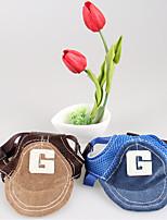Chien Bandanas & Chapeaux Vêtements pour Chien Sportif Lettre et chiffre Gris Bleu