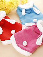 Собака Костюмы Одежда для собак Рождество Новогодняя тематика Красный Синий Розовый