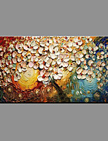 Hand-Painted Floral/Botanical Horizontal Panoramic,Modern/Contemporary One Panel Canvas Oil Painting For Home Decoration