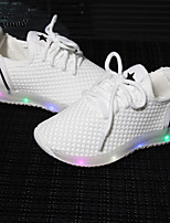 Girls' Sneakers Comfort Novelty Tulle PU Summer Fall Athletic Casual Outdoor Running Flat Heel White Black Blushing Pink Flat