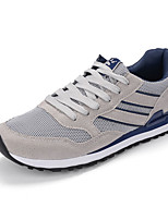 Men's Athletic Shoes Comfort Light Soles PU Spring Fall Athletic Lace-up Flat Heel Gray Blue Flat