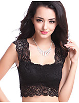 Women's Casual Sexy Lace Tank Top Solid Caims Top Tees Short T Shirts