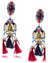 Women's Drop Earrings Jewelry Tassel Oversized Costume Jewelry EVA Resin Alloy Geometric Jewelry For Wedding Party Gift Stage Dress