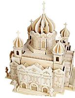 Набор для творчества 3D пазлы Пазлы Деревянные пазлы Игрушки Церковь Архитектура Другое 3D Не указано Куски