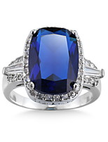 Ring Women's Euramerican Luxury Classic 6 Colors Square Rhinestone  Zircon Ring Daily  Party Gift Movie Jewelry