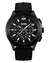 SKMEI Homens Relógio Esportivo Relógio Militar Quartzo Silicone Banda Preta