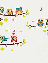 Animais Botânico Moda Adesivos de Parede Autocolantes de Aviões para Parede Autocolantes de Parede Decorativos Autocolantes de Medição