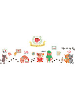 Wall Stickers Wall Decas Style Cute Cartoon Cat PVC Wall Stickers