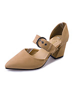 Da donna Sandali Cashmere Estate Footing Più materiali Basso Nero Beige Verde 7,5 - 9,5 cm