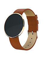 Men's Fashion Watch Digital Leather Band Black Brown