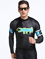 New Men's Long-Sleeved Sunscreen Swimsuit Men's Jacket Surfing Snorkeling Suit Diving Suit Split Jellyfish Slothes Clothes