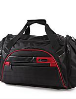 Unisex Travel Bag Oxford Cloth All Seasons Casual Outdoor Duffel Zipper Red black Black Blue