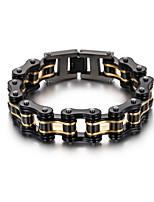 Kalen Trendy Bike Chain Bracelet Men's Stainless Steel Heavy Chunky Black & Gold Bicycle Chain Bracelets Male Accessories Jewelry Gifts