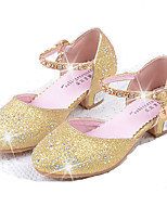 Girls' Flats Comfort Flower Girl Shoes PU Summer Fall Dress Comfort Flower Girl Shoes Rhinestone Sequin Flat HeelBlushing Pink Blue