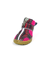 Dog Shoes & Boots Casual/Daily Sports Plaid/Check Gray Blue Blushing Pink