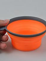 Chien Bols & Bouteilles d'eau Animaux de Compagnie Bols & alimentation Portable Durable Orange Violet