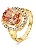 Damen Ring Modisch vergoldet Ovale Form Schmuck Für Alltag