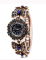 FUNIQUE Bronze Tone Stylish Women's Bracelet Watch Retro Rhinestone Dress Ladies Wrist Watch Reloj Mujer Quartz Clock Numerals