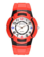 Kid's Sport Watch Digital Watch Digital Water Resistant / Water Proof Noctilucent Rubber Band Black Blue Red