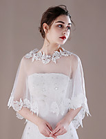 Women's Wrap Ponchos Tulle Wedding Party/ Evening Lace