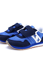 Boys' Sneakers Comfort Light Soles Suede Spring Fall Casual Outdoor Magic Tape Flat Heel Navy Blue Gray Walking Shoes
