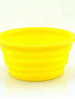 Dog Bowls & Water Bottles Pet Bowls & Feeding Portable Yellow Orange Black
