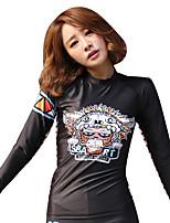 SBART Mulheres Roupas de mergulho Terylene Fato de Mergulho Manga Longa Blusas-Mergulho Todas as Estações Curva