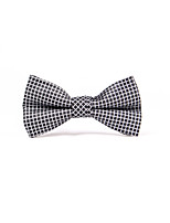 Men's Polyster Bow Tie,Grid Check All Seasons