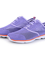 Для женщин Мокасины и Свитер Удобная обувь Светодиодные подошвы Тюль Весна Лето Повседневные Для прогулокУдобная обувь Светодиодные