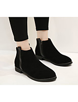 Women's Boots Comfort PU Spring Casual Black Brown Flat