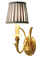 AC110-240 E12/E14 Tiffany Simple Country Traditional/Classic Brass Feature for Mini Style Bulb IncludedUplight Wall Sconces Wall Light  L