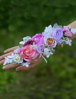 Свадебные цветы Букетик на запястье Свадебное белье Около 8 см