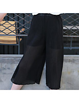 Girls' Solid Pants Summer