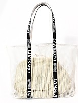 Women Bag Sets Special Material All Seasons Casual Shopper Without Zipper Black White