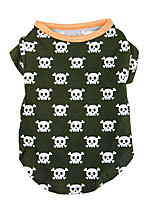Dog Shirt / T-Shirt Dog Clothes Casual/Daily Skulls Jade