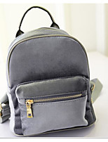 Women Bags All Seasons PU Backpack with for Casual Black Gray Amethyst
