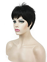 Super Short Layered Fluffy Black Full Synthetic Wigs